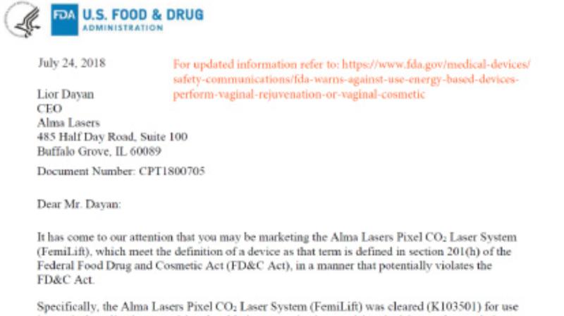 菲蜜莉雷射 美國FDA