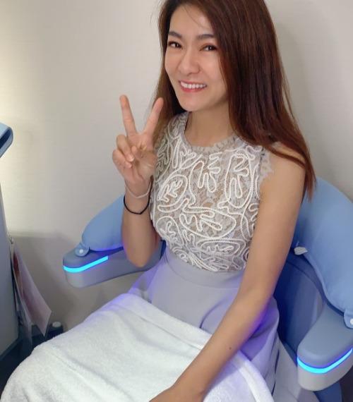 記者劉盈盈來海亞體驗G動椅